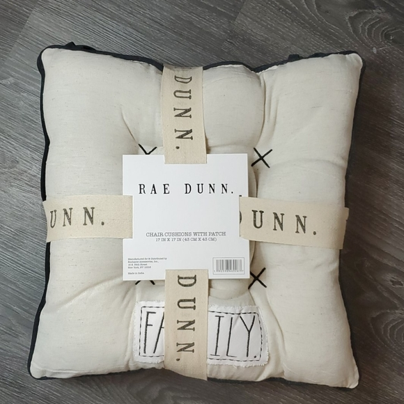 NWT Rae Dunn Set of Two Chair Cushions